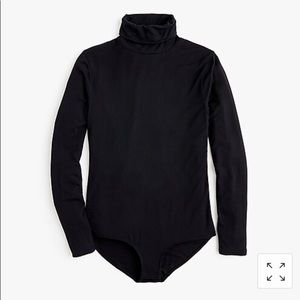 JCrew black turtleneck bodysuit